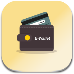 Pay online using e-wallet